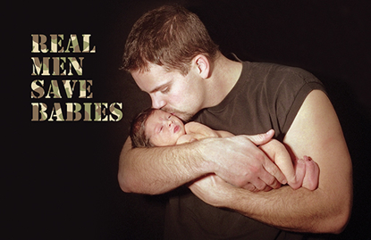 Picture of 2015 Bulletin Insert - Real  Men Save Babies